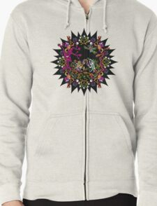 Aztec meeting psychedelic T-shirt Zipped Hoodie