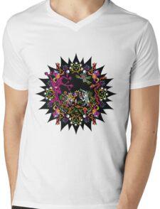 Aztec meeting psychedelic T-shirt Mens V-Neck T-Shirt