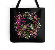 Aztec meeting psychedelic T-shirt Tote Bag