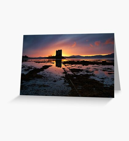 Skies On Fire Greeting Card