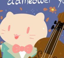 Meow-sical Kitty Sticker