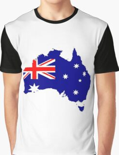 Australia Flag Map Graphic T-Shirt