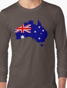 Australia Flag Map Long Sleeve T-Shirt