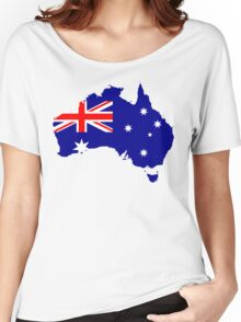 Australia Flag Map Women's Relaxed Fit T-Shirt