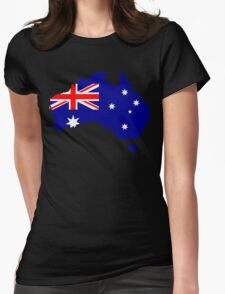 Australia Flag Map Womens Fitted T-Shirt