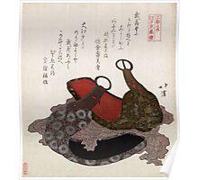 Edo Musashi Saddle Stirrup - Hokkei Totoya - 1818 - woodcut Poster