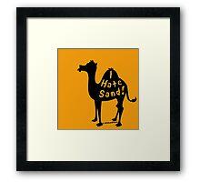 Camel Gripe Framed Print