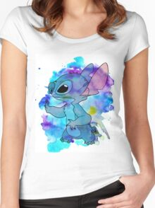WATERCOLOUR STITCH Women's Fitted Scoop T-Shirt