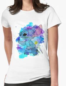 WATERCOLOUR STITCH Womens Fitted T-Shirt