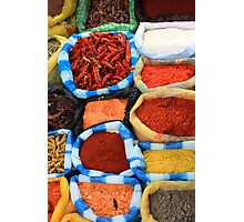 Colorful Spices at the Market Photographic Print