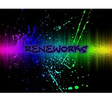 ReneWorks Abstract Oil Paint Photographic Print