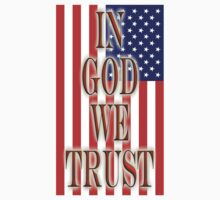 America Motto, In God we trust, USA, American, official motto, flag One Piece - Short Sleeve