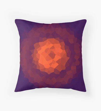 abstract crystal design Throw Pillow