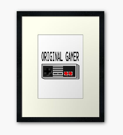 Original Gamer Framed Print
