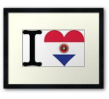 I Love Paraguay Framed Print