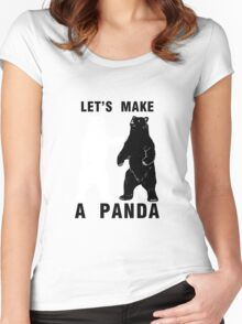 Let's Make A Panda Women's Fitted Scoop T-Shirt