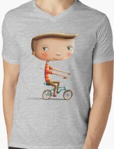 Malvern Star Mens V-Neck T-Shirt