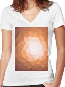 abstract crystal design Women's Fitted V-Neck T-Shirt