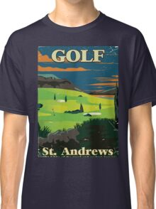 Golf St. Andrews vintage commercial poster print Classic T-Shirt