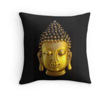 Golden Buddha Throw Pillow