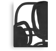 Black & White Abstract 1 Canvas Print
