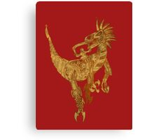 Clockwork Velociraptor Canvas Print