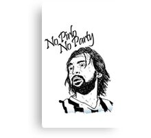 No Pirlo, No Party... Canvas Print
