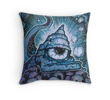 Cthonic Temple Smoke Throw Pillow