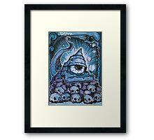 Cthonic Temple Smoke Framed Print