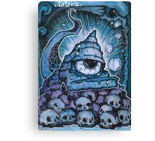 Cthonic Temple Smoke Canvas Print