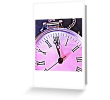 Zeit  - time Clock - Uhr Greeting Card