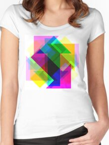 Multiple Directions Women's Fitted Scoop T-Shirt