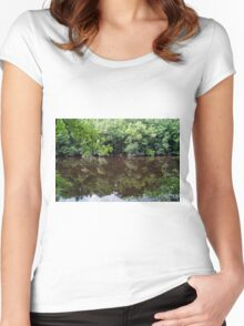 Congaree Nature Reserve, South Carolina, USA Women's Fitted Scoop T-Shirt