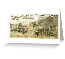 Steam Threshing in South Elmsall, Yorkshire early 1940s Greeting Card