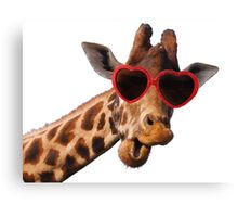 Cool Giraffe wearing Sunglasses ( fun humour comedy ) Canvas Print
