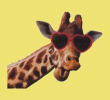 Cool Giraffe wearing Sunglasses ( fun humour comedy ) Kids Tee