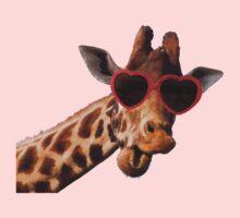 Cool Giraffe wearing Sunglasses ( fun humour comedy ) One Piece - Long Sleeve