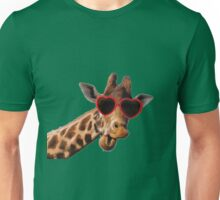 Cool Giraffe wearing Sunglasses ( fun humour comedy ) Unisex T-Shirt