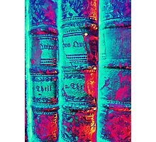 old Books - alte Bücher psychodelic Photographic Print