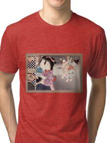 Firefly Cage - Shokoku Yamamoto - 1900 - woodcut Tri-blend T-Shirt