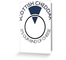 Scottish Cheddar: Blue Greeting Card