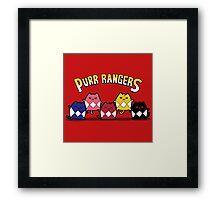 Purr Rangers Framed Print