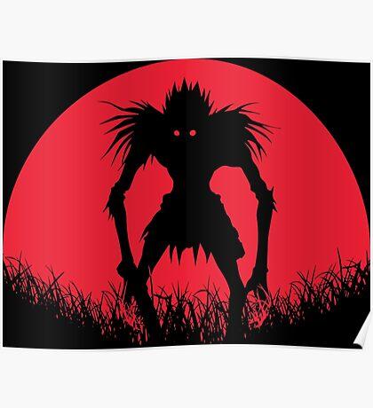 Ryuk Shinigami Red Moon Poster
