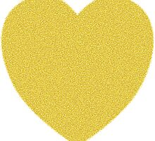 Textured look gold heart by pangolily
