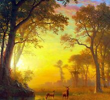 Albert Bierstadt Light in the Forest by pdgraphics