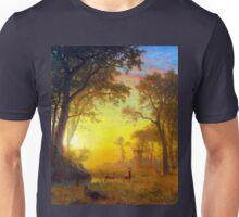Albert Bierstadt Light in the Forest Unisex T-Shirt