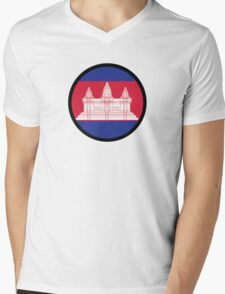 Under the Sign of Cambodia Mens V-Neck T-Shirt