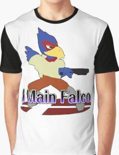 I Main Falco - Super Smash Bros Melee Graphic T-Shirt