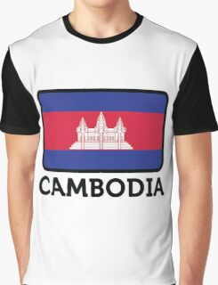 National flag of Cambodia Graphic T-Shirt