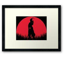 Super Buu Red Moon Framed Print